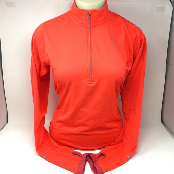 b065ea668 Nike Tops | Womens Drifit Element Half Zip Running Top | Poshmark